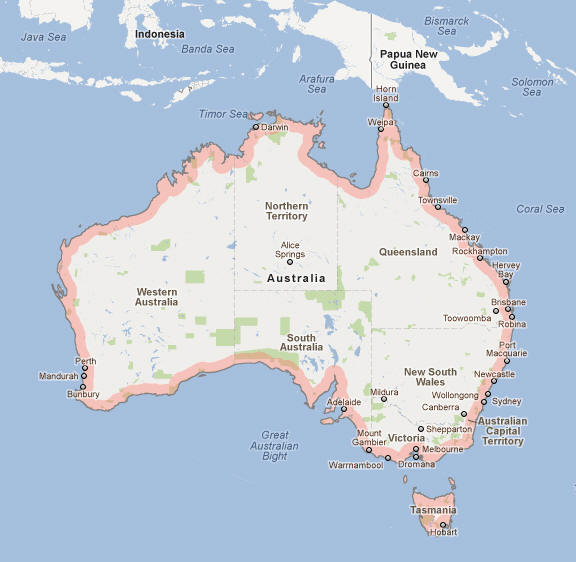 Australian Cities Map – Map of Australia and Cities