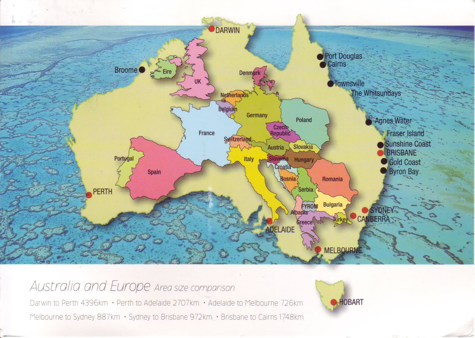 Australia Map In Europe.How Big Is Australia