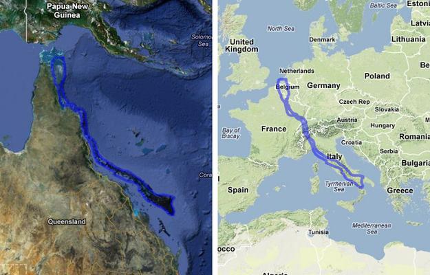 Europe Map In Australia.How Big Is Australia