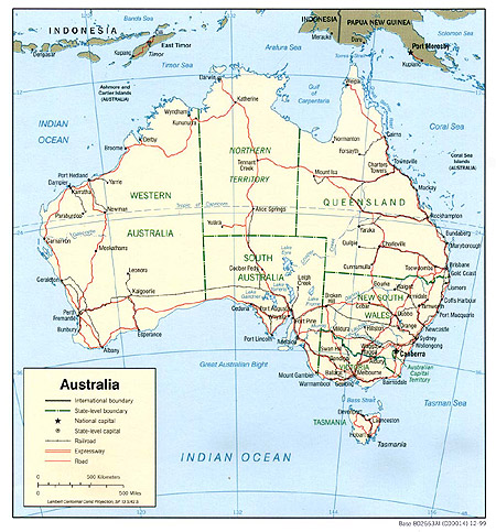 Political Map Of Australia - Political map of australia