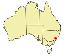 Sydney location map
