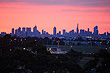Melbourne Skyline at Sunset photo