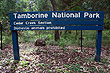 Tamborine National Park Sign photo