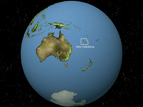 Map Of The World Globe View.Globe View Of New Caledonia