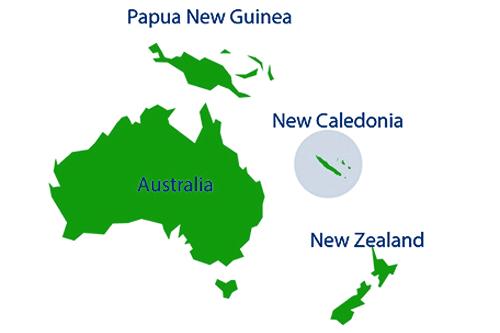 Oceania View of New Caledonia