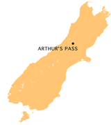 Arthurs Pass location map