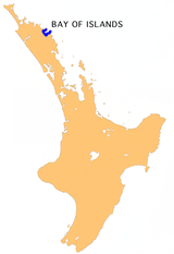 Bay of Islands location map