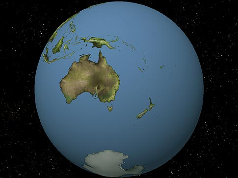 New Zealand Map On World.Globe View Of New Zealand
