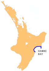 Hawke Bay location map