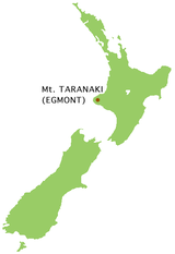 Mt Taranaki location map