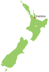 Paeroa location map