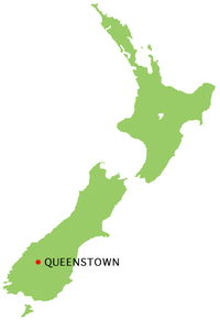 Queenstown New Zealand location map