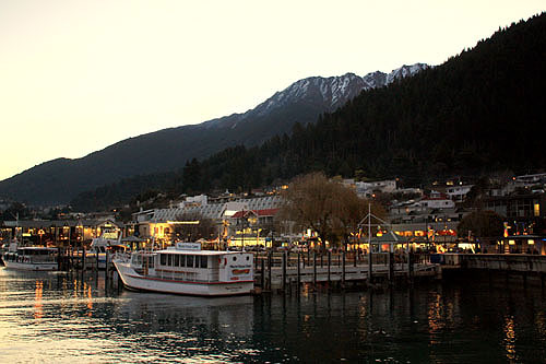 Lake Front Sunset in Queenstown  photo