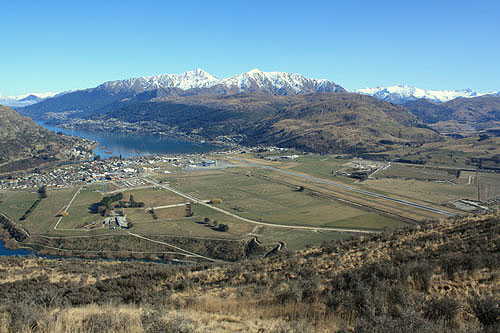 Aerial View of Queenstown Airport photo