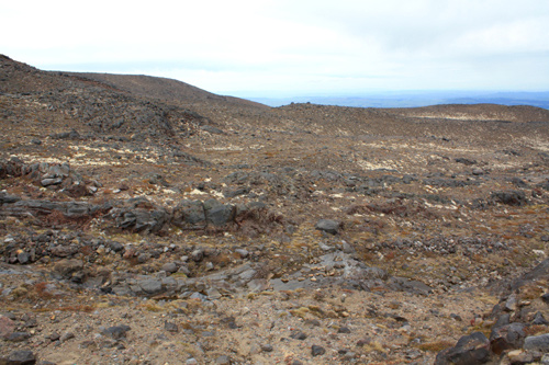 lava slope mt ruapehu photo