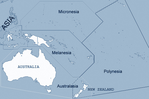 Oceania Map and photos