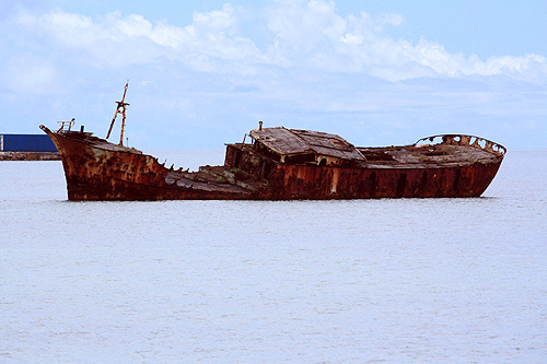 Tongan Shipwreck photos